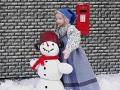 Dívka se sněhulákem