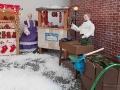Vánoční tržiště a stánek s kapry
