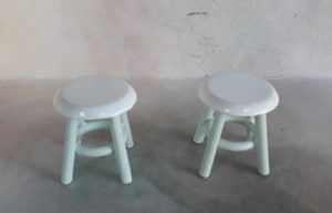 2017199 bílo zelené stoličky