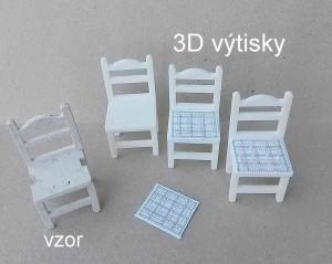 židle z 3D tiskárny