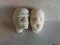 hlavy figurek - detail