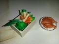 zelenina a kuře